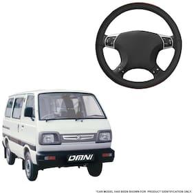 Autofurnish (AFSC-720 Tan Black) Leatherite Car Steering Cover For Maruti Omni
