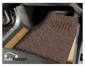 Autofurnish Anti Skid Curly Car Foot Mats (Coffee) for Toyota Etios Cross