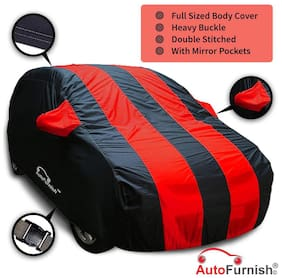 Autofurnish Red Stripe Water Resistant Car Body Cover For Ford EcoSport - Arc Blue