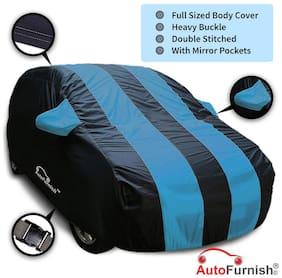 Autofurnish Stylish Aqua Stripe Car Body Cover For Nissan Terrano - Arc Blue