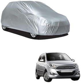 Autofurnish Silver Car Body Cover For Hyundai i10 - Silver