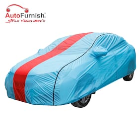 Autofurnish Stylish Red Stripe Car Body Cover For Honda City - Attire Aqua