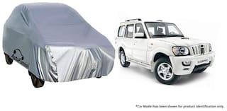 Autofurnish Car Body Cover For Mahindra Scorpio - Silver