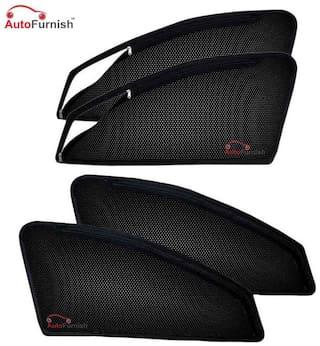Autofurnish Magnetic Zipper Sun Shades Car Curtains For Hyundai Verna Fluidic (4 pc.)