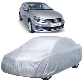 Autofurnish Car Body Cover For Volkswagen Vento - Silver