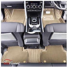 Autofurnish 7D Carbon Fiber Style Custom Fitted Car Mats For Hyundai Grand i-10 - Beige