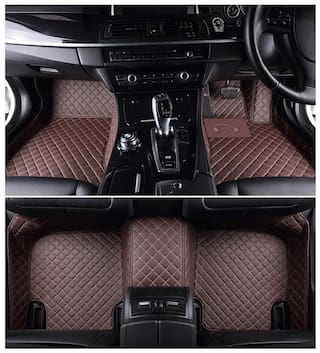 Autofurnish 5D Premium Custom Fitted Car Mats For Honda Amaze - Coffee