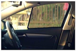 Autofurnish Custom Fit Car Sun Shades Curtains Mesh for Tata Safari (4 pc.)