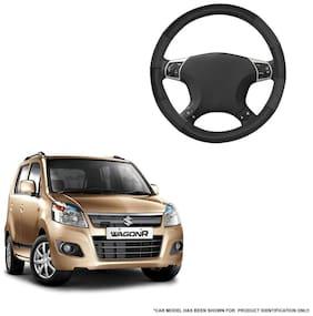 Autofurnish (AFSC-711 Dove Black) Leatherite Car Steering Cover For Maruti Wagon R 1.0
