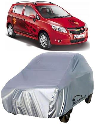 Autofurnish Car Body Cover For Chevrolet Sail U-VA - Silver