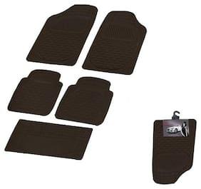 Autofurnish (Imported) Car Foot Mats (Smoke Black) Set of 4 For Chevrolet Beat