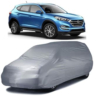 Autofurnish Silver Car Body Cover For Hyundai Tucson