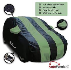 Autofurnish Stylish Green Stripe Car Body Cover For Honda BR-V - Arc Blue