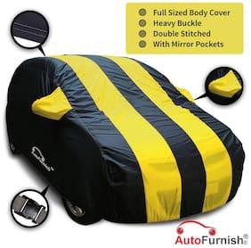 Autofurnish Stylish Yellow Stripe Car Body Cover For KIA Sonet 2020 - Arc Blue