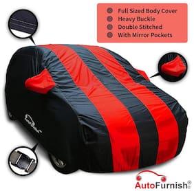 Autofurnish Red Stripe Water Resistant Car Body Cover For Tata Nano - Arc Blue