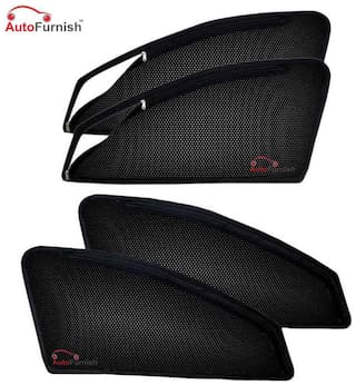 Autofurnish Magnetic Zipper Sun Shades Car Curtains for Ford Endeavour (6 pc.)