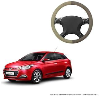 Autofurnish (AFSC-715 Coral Beige) Leatherite Car Steering Cover For Hyundai Elite i20