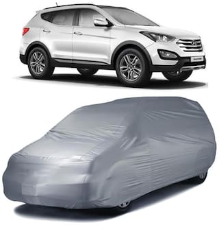 Autofurnish Silver Car Body Cover For Hyundai Santa Fe