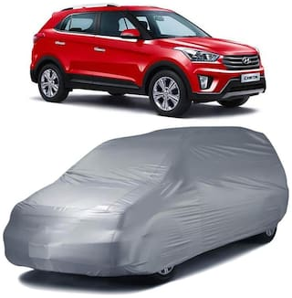 Autofurnish Car Body Cover For Hyundai Creta - Silver