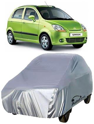 Autofurnish Car Body Cover For Chevrolet Spark - Silver