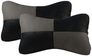 Autofurnish Neck Rest Cushion for Car (Set of 2)
