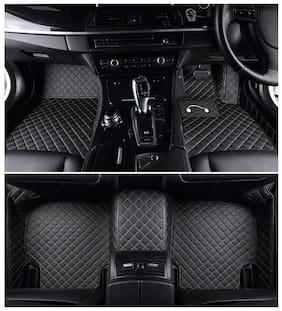 Autofurnish 5D Premium Custom Fitted Car Mats For Jeep Compass - Black