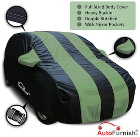 Autofurnish Stylish Green Stripe Car Body Cover For Maruti Alto - Arc Blue