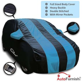 Autofurnish Stylish Aqua Stripe Car Body Cover For Maruti Ertiga - Arc Blue