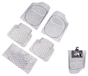 Autofurnish (Imported) Car Foot Mats (Transparent) Set of 5 For Mahindra Quanto