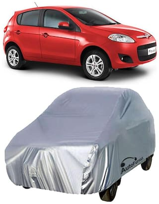 Autofurnish Silver Car Body Cover For Fiat Palio D