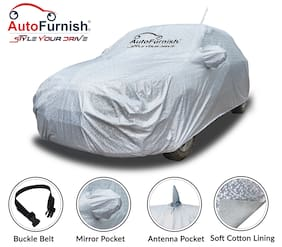 Autofurnish Aero Waterproof Heat Resistant Mirror and Antenna Pocket Car Body Cover Compatible With Hyundai Elite i20 - Aero Silver