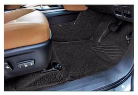 Autofurnish 7D Curly Custom Fitted Car Mats For Ford EcoSport 2017 - Black