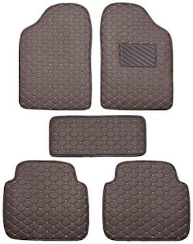 Autofurnish 2D Premium Car Mats For Tata Safari Dicor -Brown
