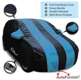Autofurnish Stylish Aqua Stripe Car Body Cover For Tata Sumo Victa - Arc Blue