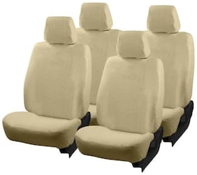 Autofurnish (TW-303)  Towel Car Seat Cover For Skoda Octavia (Beige)