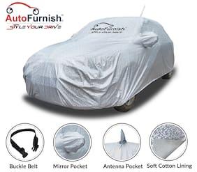 Autofurnish Aero Waterproof Heat Resistant Mirror and Antenna Pocket Car Body Cover Compatible With Maruti Alto K10 - Aero Silver