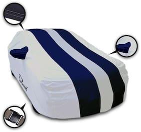 Autofurnish Stylish Blue Stripe Car Body Cover For Maruti Swift - Arc Blue