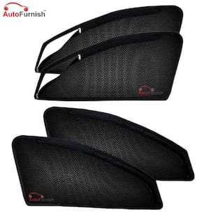 Autofurnish Magnetic Zipper Sun Shades Car Curtains for Toyota Fortuner (6 pc.)