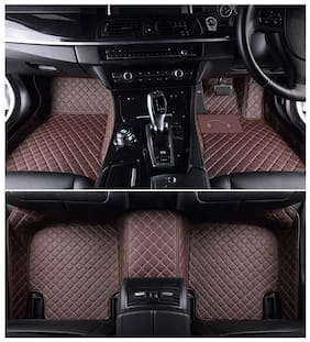Autofurnish 5D Premium Custom Fitted Car Mats For Maruti Suzuki Baleno - Coffee