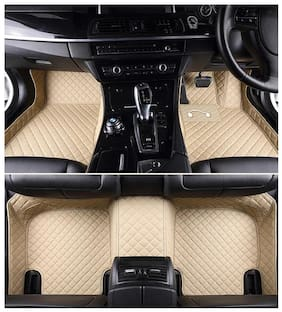 Autofurnish 5D Premium Custom Fitted Car Mats For Mahindra XUV 500 - Beige