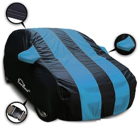 Autofurnish Stylish Aqua Stripe Car Body Cover For Hyundai i20 - Arc Blue