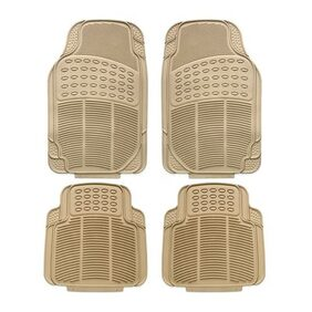 Autofurnish Car Foot Mats (Beige) Set of 4 For Hyundai Santro
