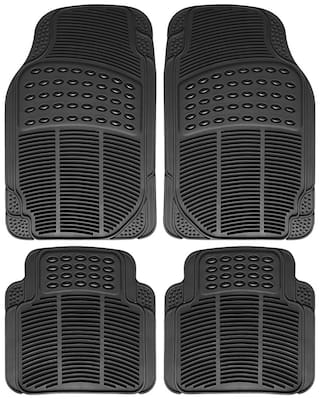 Autofurnish Car Foot Mats (Black) Set of 4 For Hyundai i-10
