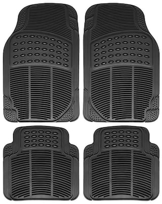Autofurnish Car Foot Mats (Black) Set of 4 For Maruti Suzuki Swift [2005-2011]