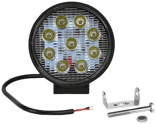 Autofy Round Fog Light Projector Lamp 9 LED for All Bikes