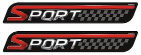 Car Sticker Small Graphic Decal Sport Red Styling Accessories Autographix Set of 2