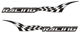 Car Sticker Small Graphic Decal Racing Styling Accessories Autographix Set of 2