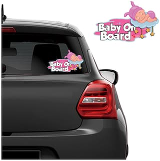 Autographix Baby Girl On Board Car Rearwindscreen Graphic