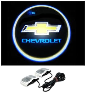 AutoKraftZ Non Drill Paste Only Car Shadow Light Ghost Light for Chevrolet Beat (Set of 2)