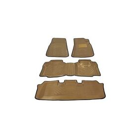 Automaze Laminated Odourless Premium Beige 4D Car Floor Mats Perfect Fit-Mahindra TUV300-Set of 4 Pc
